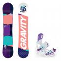 Snowboard komplet Gravity Electra 18/19 + vázání Starlet white