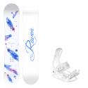 Snowboard komplet Raven Mia white + vázání Luna