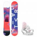 Snowboard komplet Gravity Sirene 19/20 + vázání G1 white