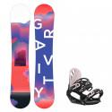 Snowboard komplet Gravity Sirene 19/20 + vázání G1 black