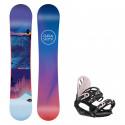 Snowboard komplet Gravity Voayer 19/20 + vázání G1 black