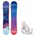 Snowboard komplet Gravity Voayer 19/20 + vázání G1 white