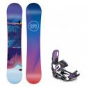 Snowboard komplet Gravity Voayer 19/20 + vázání Starlet black