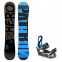 Snowboard komplet Pathron Powder Hero + vázání s200 blue