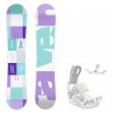 Snowboard komplet Raven Laura + vázání Fastec