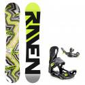 Snowboard komplet Raven Core carbon + vázání Fastec lemon