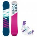 Snowboard komplet Nidecker Flake 19/20 + vázání Starlet white