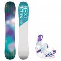 Snowboard komplet Nidecker Angel + vázání Starlet white