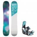 Snowboard komplet Nidecker Angel + vázání Starlet mint