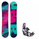 Snowboard komplet Raven Satine + vázání Raven Starlet