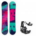 Snowboard komplet Raven Satine + vázání Fastec