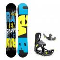 Snowboard komplet Raven Gravy + vázání Fastec lemon