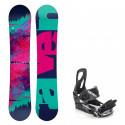 Snowboard komplet Raven Satine + vázání Raven S200