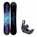 Snowboard komplet Raven Aura + vázání S200 violet