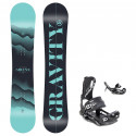 Snowboard komplet Gravity Sirene 20/21 + vázání Fastec