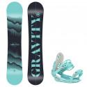 Snowboard komplet Gravity Sirene 20/21 + vázání G1 mint