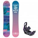 Snowboard komplet Gravity Voayer 20/21 + vázání S200