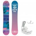 Snowboard komplet Gravity Voayer 20/21 + vázání Fastec