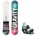 Snowboard komplet Gravity Fairy 20/21 junior + vázání G1 jr