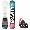 Snowboard komplet Gravity Fairy 20/21 junior + vázání G1 jr pink